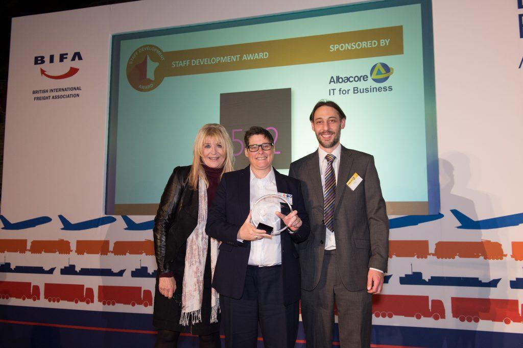 512 (Sheffield) – win the staff development award