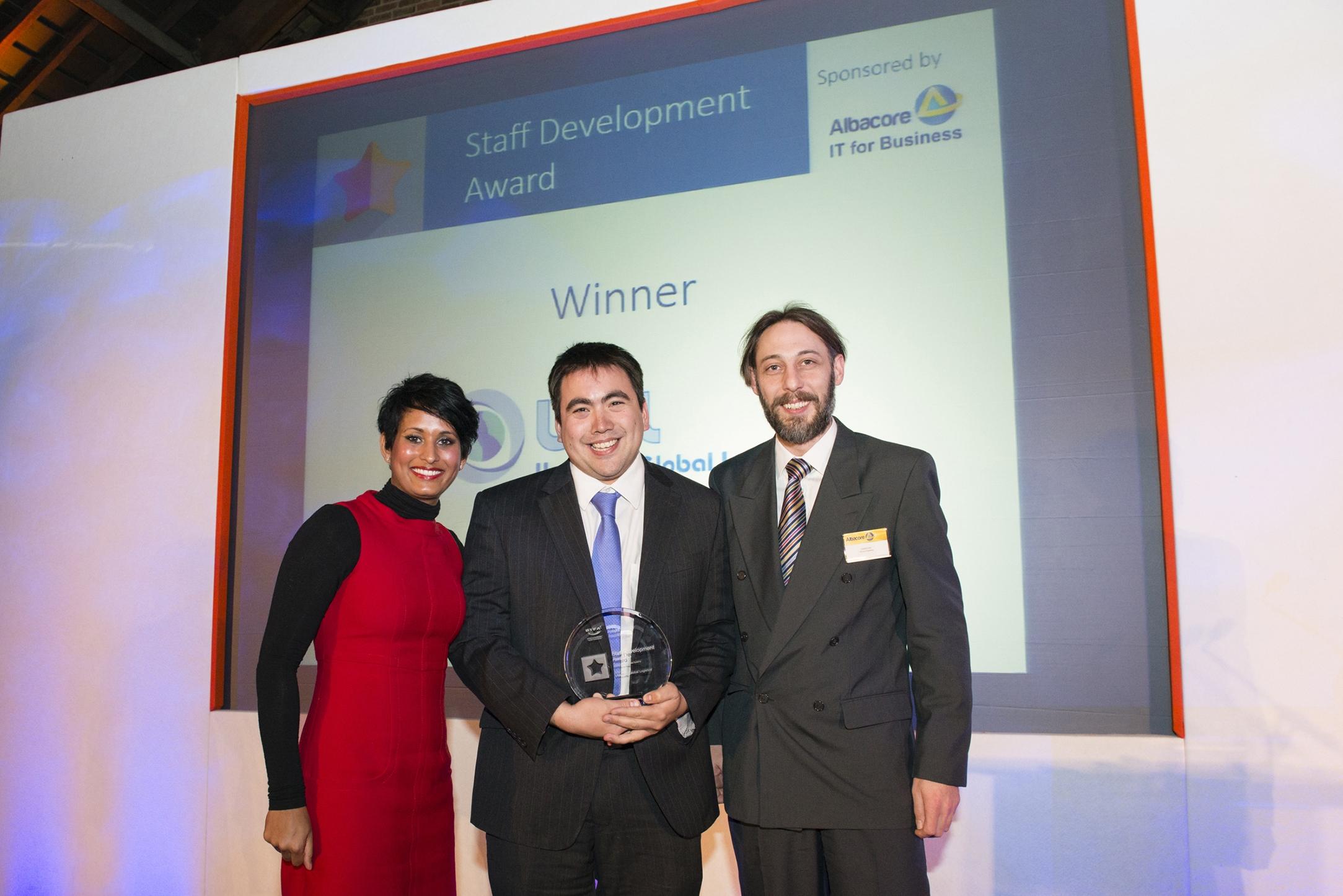 Unsworth Global Logistics win Staff Development Award
