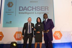 Dachser win the Staff Development category.